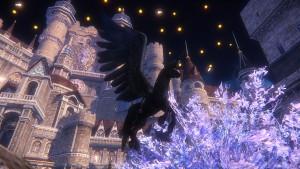 夜のハカナス城